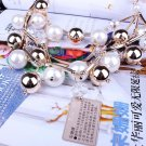 Elegant Women Multi-layer Torsade Fringe White Simulated Pearl Necklace