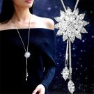 Crystal Rhinestone Snowflake Pendant Necklace