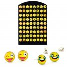 Smile 36 Pairs Set Fashion Cute Yellow Smiley Face Earrings