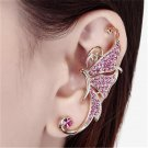 1 Piece Cute Crystal Butterfly Wings Ear Clip Clamp Earring - 2 colors