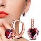 Fashion Simple Women Diamond Ear Stud Earrings - 2 colors