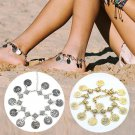 Foot Chain Gypsy Old Turkish Coin Silver Anklet -  2 colors
