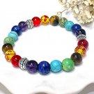 Charm Necklace Colorful Natural Stone Beads Chakra Bracelet