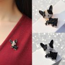Cute Dog Shape with Rhinestone Scarf Lapel Pin Brooches - 2 colors