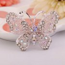 1 Pc Fashion Crystal Rhinestones Butterfly Brooch Pins