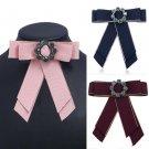 Rhinestone Pre Tied Bow Tie Brooch For Casual Wedding Party - 3 colors