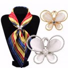 Fashion Tricyclique Butterfly Scarf Buckle Wedding Brooches - 2 colors