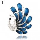 Fashion Rhinestone Peacock Brooch Pin