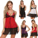 Baby doll patchwork nightwear women's four strap sleeve - 4 colors