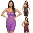 Lace bodysuit body doll women's sleeveless spaghetti strap 4 bra - 3 colors