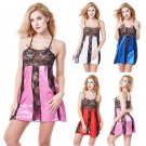 Lace lingerie dress mini nightwear women's Lingerie - 4 colors