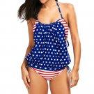 Women push-up padded american flag bra beachwear - 2 colors