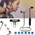 Magnetic alloy head stereo bass mic bluetooth earphone - 4 colors