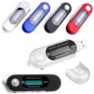 Digital mp3 music player USB LCD screen FM radio SD card audio device - 4 colors