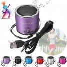 Speaker portable mini speaker amplifier FM radio player - 6 colors