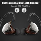 Stereo earphones wired/wireless bluetooth sports double use audio device - 3 colors