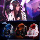 Gaming headset noise cancelling headband mic over-ear audio device - 3 colors