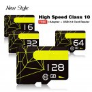 Micro SD Flash Card + Free Adapter + USB 2.0 Card reader - 32 GB
