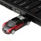 USB 2.0 Mini Sports Car Pen Drive Flash Memory Stick - 8 GB