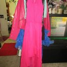 5TH & Love Pink/Fuschia Chiffon Stylish Hi Low Long Dress, size S
