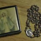 Rosary Box w/Rosary Box is 40's and has a steel military style bullet rosary