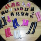 Huge lot of Barbie Shoes 14 pair & Boots 39 pair...