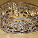 Vintage Peruzzi Sterling Comedia de Masques Bracelet