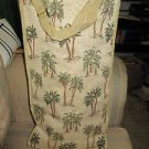 Bovano Luggage Foldable  w/Wheels, Palm Tree Tapestry, w/adjustable Handles NEW