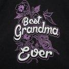 Best Grandma Ever....Womans black hooded sweatshirt