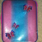 Girls Pink & Turquoise Rolling Suitcase W/ Butterflies & Backpack Telescoping