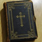 Antique Leather Bound 1868 Key Of Heaven Manual