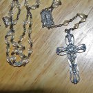 Antique Rock Crystal Our Lady of Carmel/Sacred Heart of Jesus Rosary...