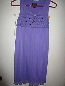 B-wear Byer girl size 16 Purple Summer dress Valentine's Easter Birthday Church