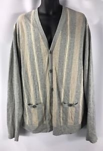 Lacoste Men's Chest Stripe Jersey Cotton Cardigan Sweater NWT size 8/3XL