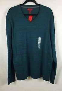 ALFANI Red Men's Long Sleeve Teal V-neck Sweater NWT Size XXLarge Slim Fit