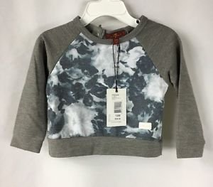 7For All Mankind Baby Girls Long Sleeve Gray Floral Sweatshirt NWT size 12 month