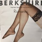 BERKSHIRE Sheer Silky Leg Invisible Toe Thigh Highs #1363 Black size A-B