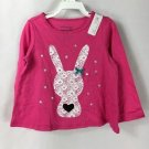 First Impressions Baby Girls Long Sleeve Pink Bunny Shirt NWT size 24 months