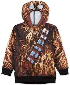 Star Wars Boys Chewbacca Zip Hoodie w/ Eye Holes Costume NWT size 4