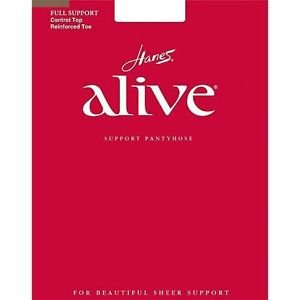 Hanes Alive Full Support Control Top Pantyhose #810 NWT Various Sizes Colors