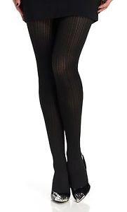 TREND by Berkshire Cable Knit Pantyhose Black #8817 size 1-2