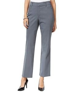 JM Collection Women's Striped Twill Trousers Only a Grey NWT size 8