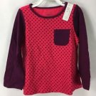 First Impressions Baby Girls Long Sleeve Pink Purple Polka Dot Top NWT 24 months