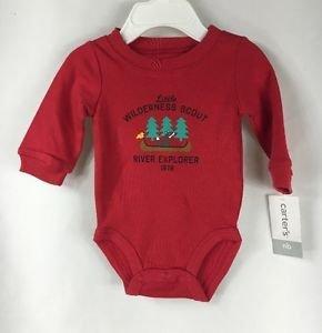 Carter's Baby Boys 1-pc Long Sleeve Bodysuit WILDERNESS SCOUT NWT Newborn