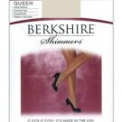 Berkshire Shimmer Sheer Control Top Sandalfoot Pantyhose Queen Size #4412