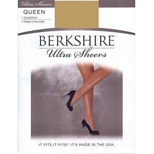 Berkshire Ultra Sheer Sandalfoot Pantyhose #4413 Queen Size 3x-4x City Beige