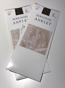 2-PAIRS Berkshire Utopia Brown Anklet Sheers NWT #6753 One Size