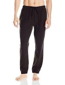 Nautica Men's Cozy Lux Fleece Lounge Pants True Black NWT size Small