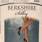 Berkshire Silky Sheer Control Top Pantyhose Queen Size Q/Petite #4489 Off Black