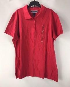 Karen Scott Women's Short Sleeve Royal Pink Polo Shirt NWT Large or XLarge